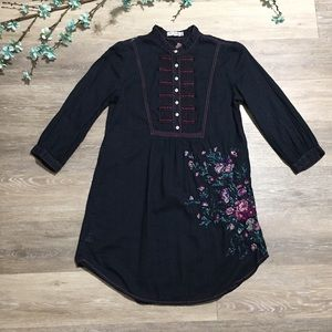 Johnny Was 3J Workshop Floral Embroidered Tunic